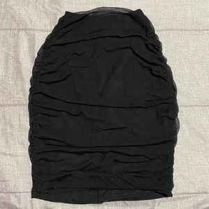 Fashion Nova Dresses - Black two piece mesh skirt set